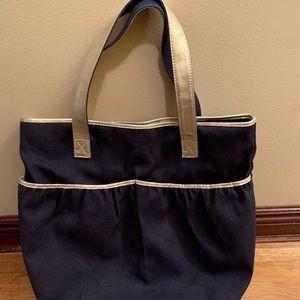 Lauren Merkin Navy Tote Bag
